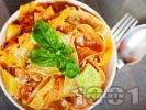 Рецепта Папарделе паста с тиквички и сметана